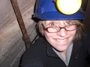 claire down the mine